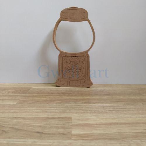 Silueta de madera maquina vintage