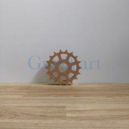 Silueta de fusta engrani