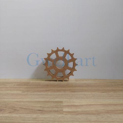 Silueta de madera engrane