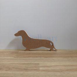 Silueta de fusta gos teckel