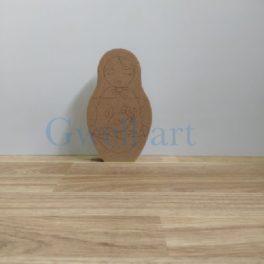 Silueta de madera matrioska