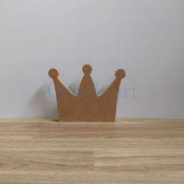 Silueta de fusta corona