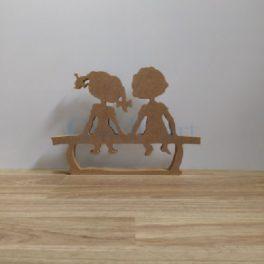 Silueta de fusta nens