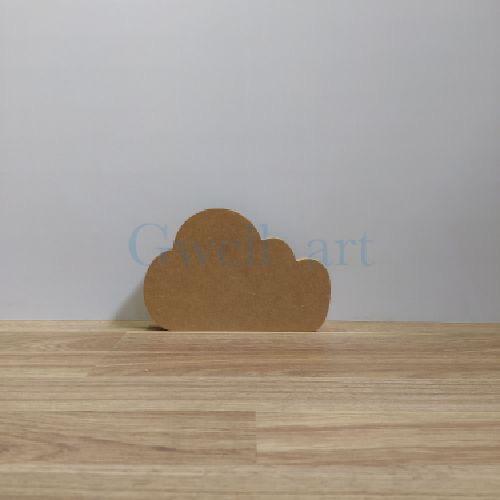 Silueta de madera nube