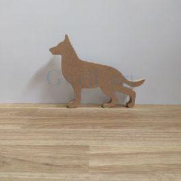 Silueta de fusta pastor alemany