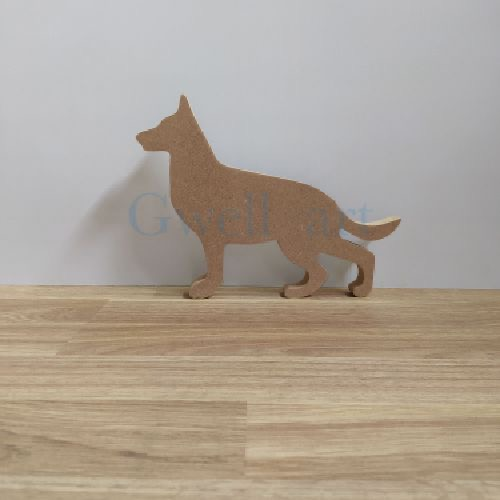 Silueta de madera pastor aleman
