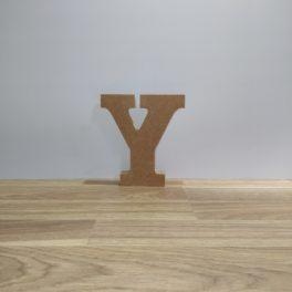 Letra de madera Y