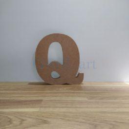 Lletra de fusta Q