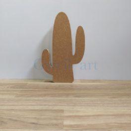 Silueta de fusta cactus