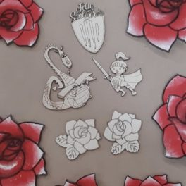 Siluetes per decorar sant Jordi