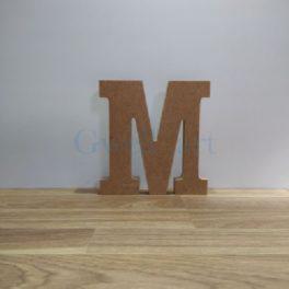 Lletra de fusta M