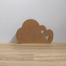 Silueta de madera nube estrella