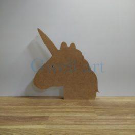 Silueta de fusta unicorn