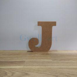 Lletra de fusta J