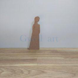 Silueta de madera angel