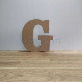 Lletra de fusta G