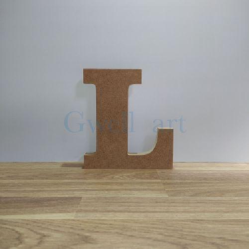 Letra de madera L