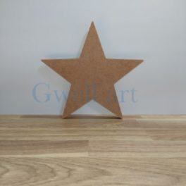 Silueta de fusta estrella