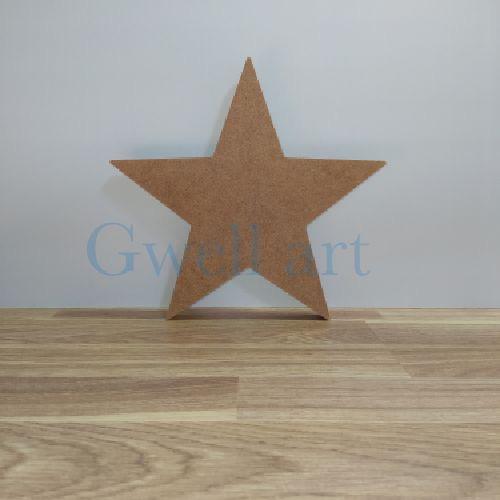 Silueta de madera estrella