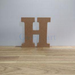 Lletra de fusta H