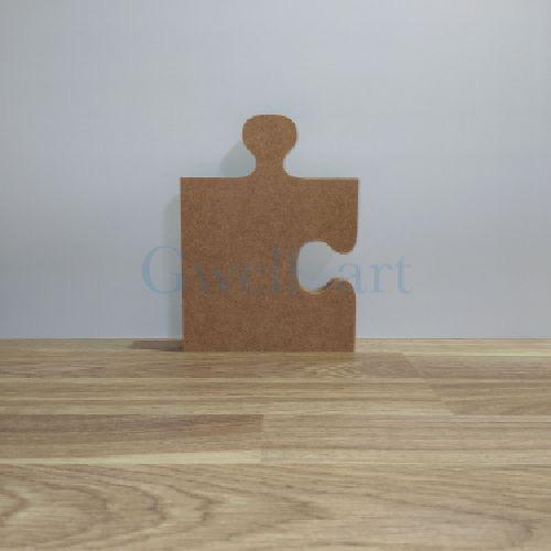 Silueta de madera puzzle recto