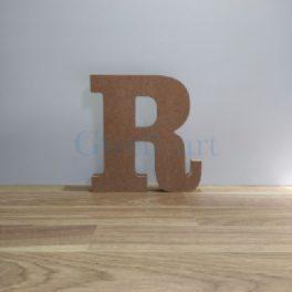 Lletra de fusta R