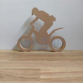 Silueta de fusta moto trial