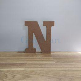 Lletra de fusta N