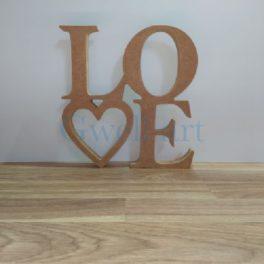 Siluetes de fusta love