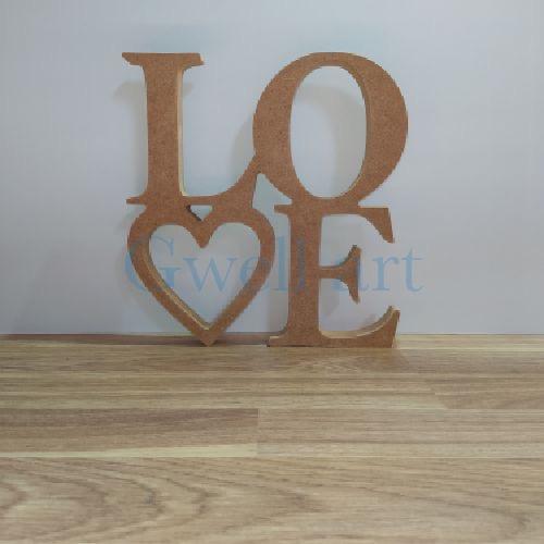 Siluetas de madera love