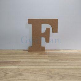 Lletra de fusta F