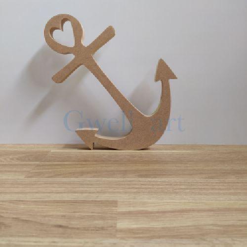 Silueta de madera ancla