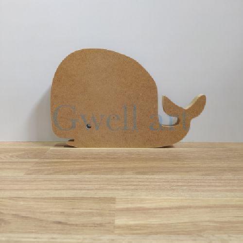 Silueta de madera ballena