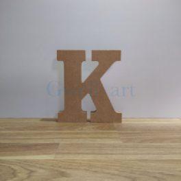Lletra de fusta K