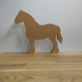 Silueta de fusta cavall