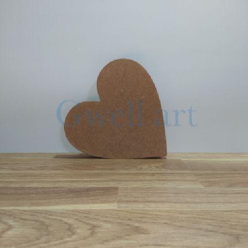 Silueta de madera corazon