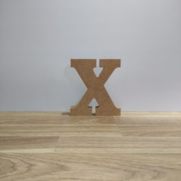 Letra de madera X