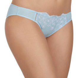 Braga biquini 100% algodón calada azul y blanca