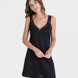 Camisa de dormir tirant ample negre