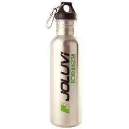 La Ecobottle de Joluvi es una botella ecológica de acero inoxidable ideal para transportar nuestra bebida durante actividades en la montaña. No absorbe los olores ni los sabores de los líquidos en su interior. Es más saludable que los envases plásticos, debido a que no libera toxinas. Válida para cualquier tipo de líquido, frio o caliente.